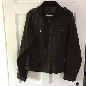 Barbour cropped jacket.
